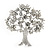 Clear Crystal 'Tree Of Life' Brooch In Rhodium Plating - 52mm Length - view 6