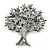 Multicoloured 'Tree Of Life' Brooch In Gun Metal Finish - 52mm Length - view 2