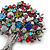 Multicoloured 'Tree Of Life' Brooch In Gun Metal Finish - 52mm Length - view 5