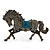 Hematite Coloured Swarovski Crystal Horse Brooch In Gun Metal Tone - 70mm Across - view 2
