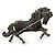Hematite Coloured Swarovski Crystal Horse Brooch In Gun Metal Tone - 70mm Across - view 5