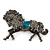 Hematite Coloured Swarovski Crystal Horse Brooch In Gun Metal Tone - 70mm Across - view 7