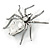 Clear Crystal Spider Brooch In Gun Metal Finish - 55mm - view 4