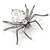 Clear Crystal Spider Brooch In Gun Metal Finish - 55mm - view 3