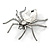Clear Crystal Spider Brooch In Gun Metal Finish - 55mm - view 6