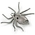 Clear Crystal Spider Brooch In Gun Metal Finish - 55mm - view 2