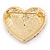 Pink Austrian Crystal Pave Set Heart Brooch In Bright Gold Tone Metal - 35mm L - view 4