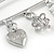 Silver Plated Safety Pin Brooch with Crystal Charms - 65mm L - view 3