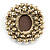 Victorian Inspired Faux Pearl Cameo Brooch In Antique Gold Tone - 55mm - view 4