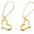 Large Hook Open Heart Earrings