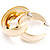 Gold Polished Contemporary Hoop Earrings