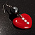 Red Plastic Crystal Heart Earrings - view 4
