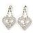 Clear Crystal Dangle Heart Earrings