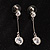 Clear Crystal CZ Drop Earrings