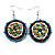 Boho Multicoloured Bead Drop Earrings