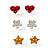 Silver-Tone Heart, Daisy & Star Stud Earring Set - view 2