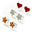 Silver-Tone Heart, Daisy & Star Stud Earring Set - view 3