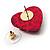 Animal Print Plastic Heart Stud Earrings (Pink&Black) - view 4