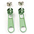 Small Light Green Metal Zipper Stud Earrings - view 2