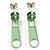 Small Light Green Metal Zipper Stud Earrings - view 2