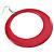 Large Raspberry Pink Enamel Hoop Drop Earrings (Silver Metal Finish) - 6.5cm Diameter - view 3