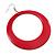 Large Raspberry Pink Enamel Hoop Drop Earrings (Silver Metal Finish) - 6.5cm Diameter - view 4