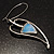 Contemporary Crystal Leaf Drop Earrings (Silver Tone) - view 8