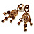 Stunning Amber Coloured Swarovski Crystal Chandelier Earrings (Gold Tone) - view 8