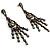 Vintage Statement Chandelier Earrings (Bronze&Clear) - view 2