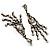 Vintage Statement Chandelier Earrings (Bronze&Clear) - view 4
