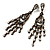 Vintage Statement Chandelier Earrings (Bronze&Clear) - view 5