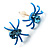Tiny Sky Blue Crystal Spider Stud Earrings - view 2