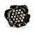 Black Tone Clear Crystal Daisy Stud Earrings - view 3