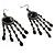 Black Bead Chandelier Earrings (Black Tone) - view 3