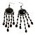 Black Bead Chandelier Earrings (Black Tone) - view 1