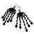 Black Bead Chandelier Earrings (Black Tone) - view 4