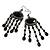 Black Bead Chandelier Earrings (Black Tone) - view 4