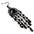 Black Bead Chandelier Earrings (Black Tone) - view 6