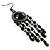 Black Bead Chandelier Earrings (Black Tone) - view 6