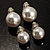Set of 2 Snow White Faux Pearl Clip-On Earrings (15mm,12mm)