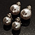 Set of 2 Snow White Faux Pearl Clip-On Earrings (15mm,12mm) - view 3