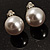 Set of 2 Snow White Faux Pearl Clip-On Earrings (15mm,12mm) - view 4