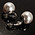 Set of 2 Snow White Faux Pearl Clip-On Earrings (15mm,12mm) - view 5