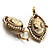 Vintage Cameo Imitation Pearl Drop Earrings (Burn Gold) - view 4