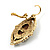 Vintage Cameo Imitation Pearl Drop Earrings (Burn Gold) - view 6