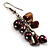 Chocolate Freshwater Pearl &amp; Shell Composite Drop Earrings (Silver Tone) - view 2