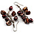 Chocolate Freshwater Pearl &amp; Shell Composite Drop Earrings (Silver Tone) - view 3