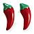 Hot Red Chilly Enamel Stud Earrings