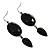 Black Tone Acrylic Drop Earrings - 7cm Drop - view 7