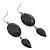 Black Tone Acrylic Drop Earrings - 7cm Drop